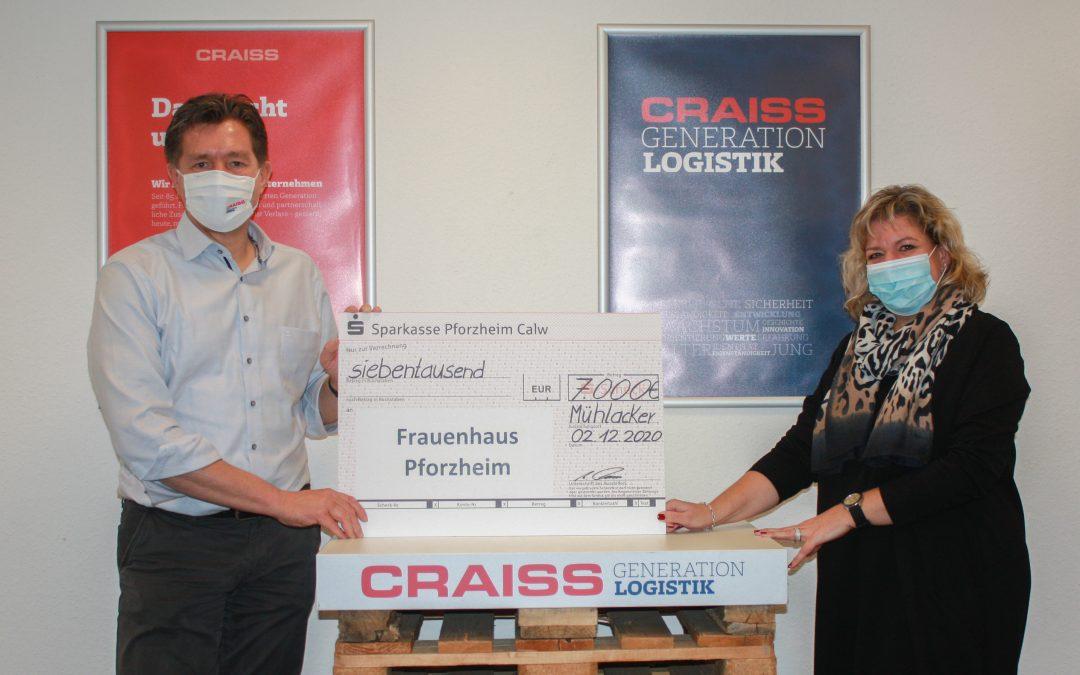 Weihnachtsspende: Craiss setzt sich gegen häusliche Gewalt ein