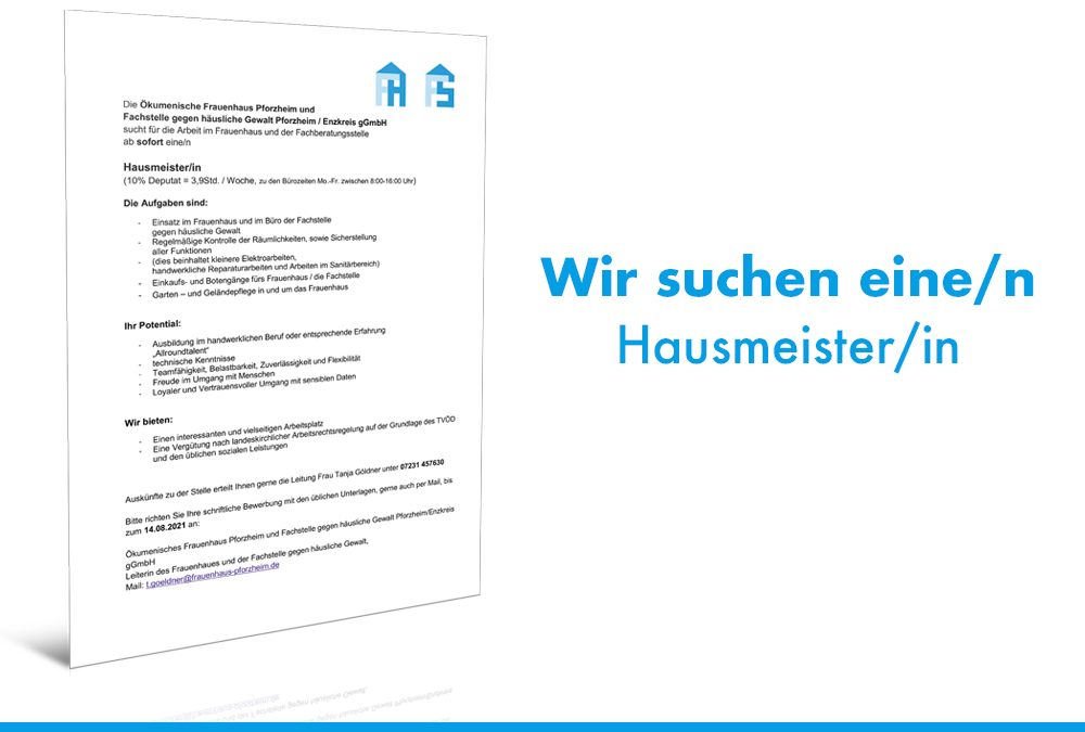 Stellenausschreibung – Hausmeister/in